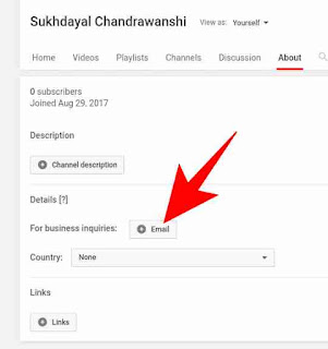 YouTube channel me business inquiry email add kaise kare 2