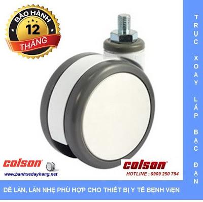 Bánh xe đôi trục ren cọc vít Colson Mỹ giá tốt tại Hà Nội www.banhxepu.net
