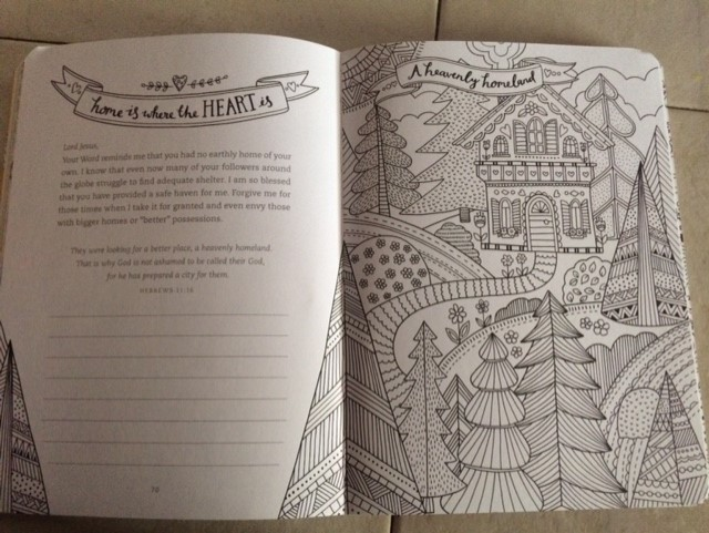 Here Is An Example Of A Page Ready To Color And Journal