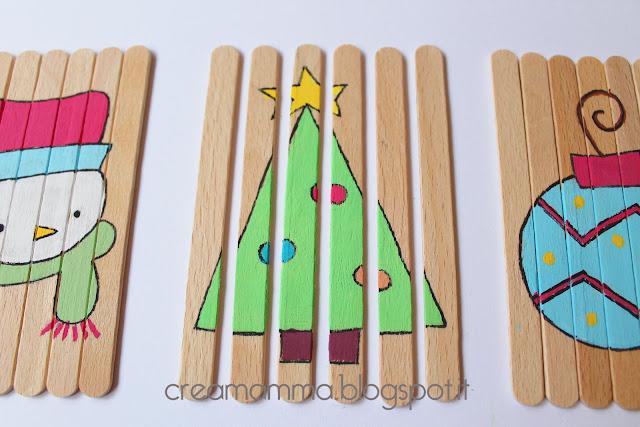DIY Puzzles for Advent Calendar Christmas Craft