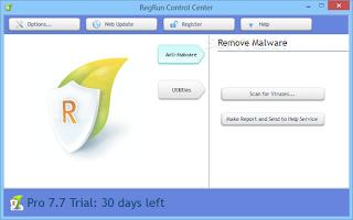 تنزيل برنامج ازالة البرامج الضارة من الكمبيوتر  RegRun Security Suite