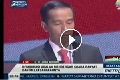Video Jokowi Dulu Janji Mendengarkan Rakyat, Kemaren Rakyat Datang Ke Istana, dia Malah Kabur ke mana?!