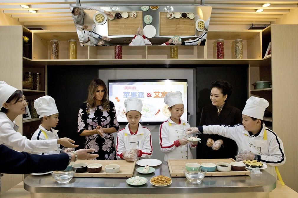 Меланія Трамп та китайська перша леді Пен Ліюань