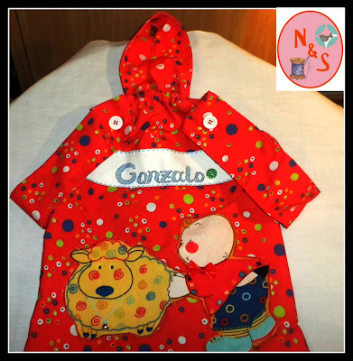 Bolsa de ropa para la guarderia personalizada.Regalo personalizado original infantil