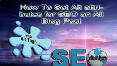 how to set alt tag title tag