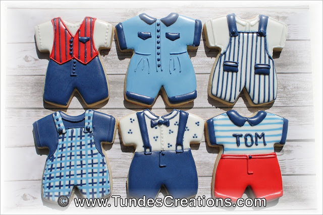 Baby romper cookies decorated by Tunde Dugantsi