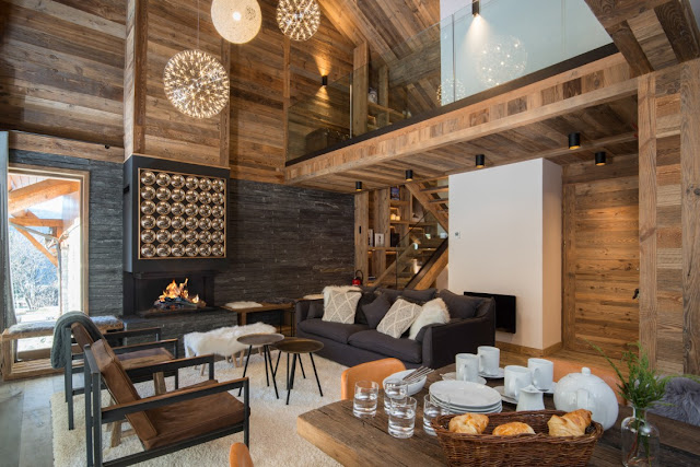 The living area in Chalet Braye, Meribel Village, with Fish and Pips