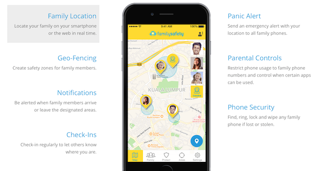 The whole package of Digi Family Safety App