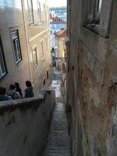 Maze-like alleys and stairways in the Mouraria district