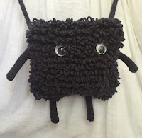 knitted monster purse