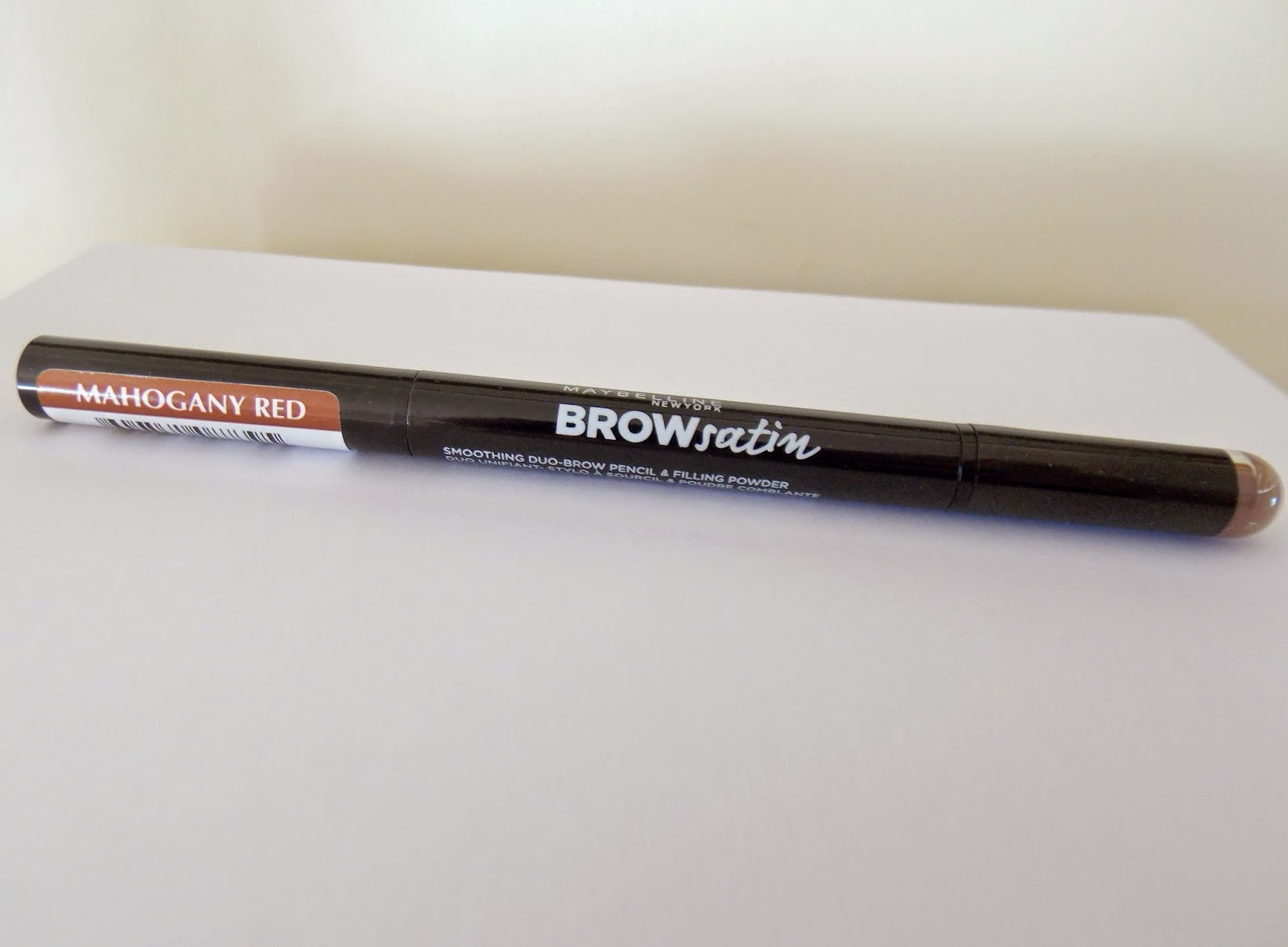 sammy scribble maybelline brow satin eyebrow pencil in mahogany red
