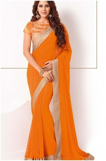 Orange Brasso Sarees