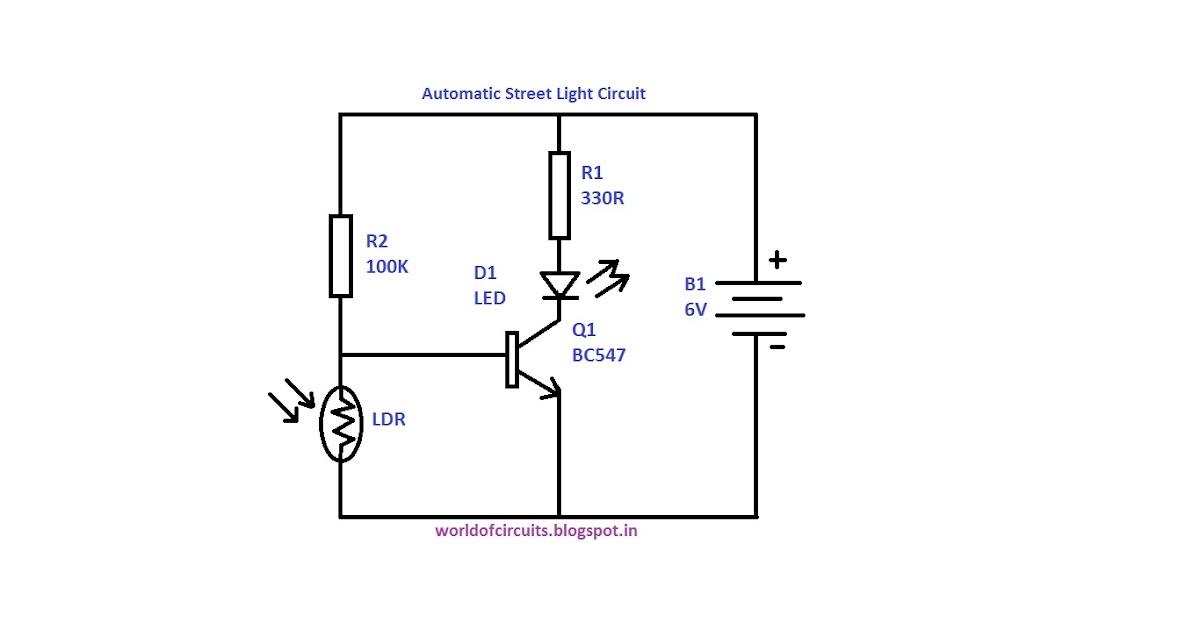 circuit diagram of automatic street light