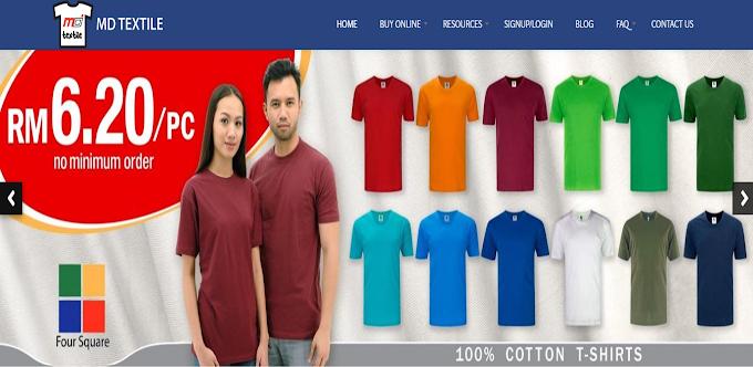 Dapatkan TShirt dan Keperluan Mencetak Secara Online dengan MDTextile.com