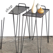Atomic Mid Century Side Table set by Charlie's nest