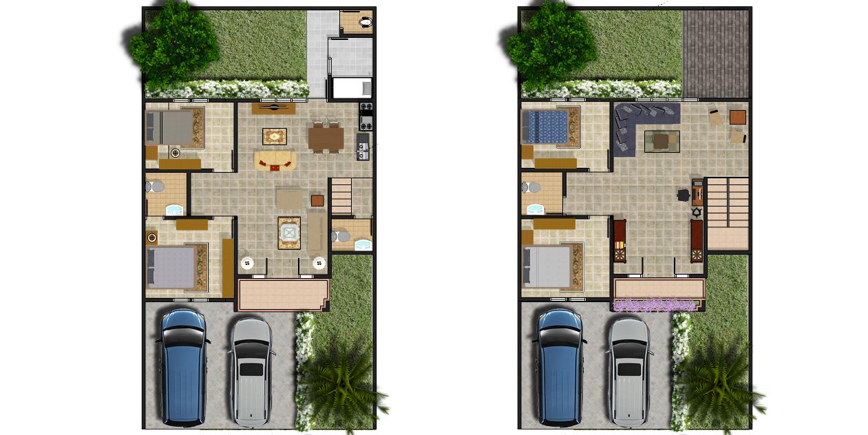 Denah Rumah 2 Lantai Dengan Garasi 2 Mobil Tahun Ini Denahom