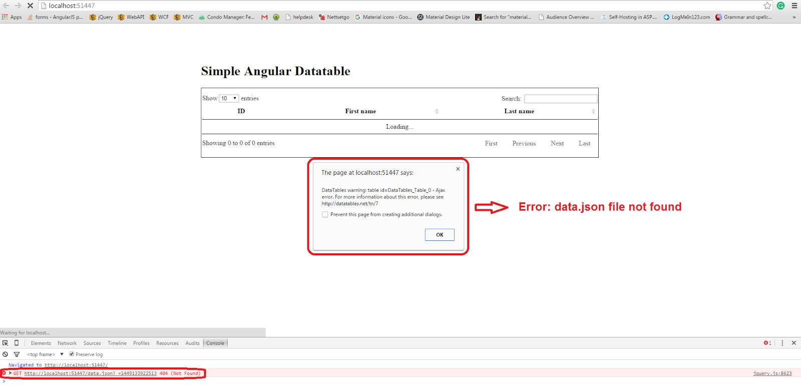 Angular 7 Datatable