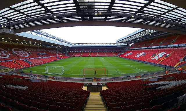Anfield, o estádio do Liverpool
