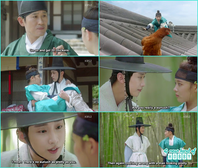 Yoon sung finally know ra on is a girl disguising in a boy dress - Love in the Moonlight - Episode 2 Review