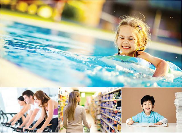 Bể bơi, trung tâm thương mại, gym, nhà trẻ