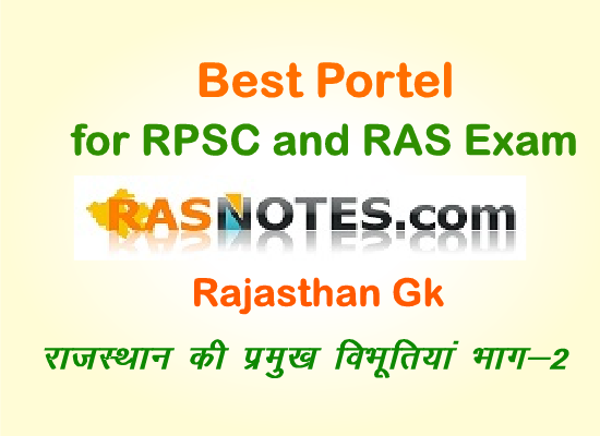 Rajasthan GK:Eminent Personalities of Rajasthan
