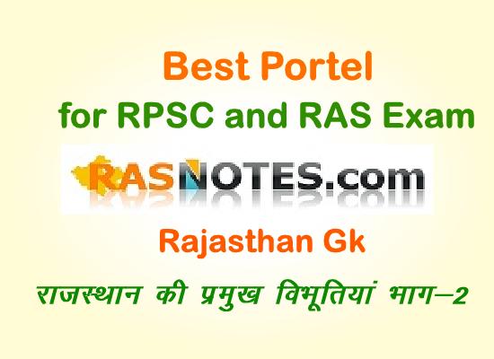 Rajasthan GK:Eminent Personalities of Rajasthan (Part-2)