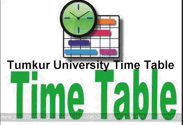Tumkur University Time Table 2017-2018 Nov BA/B.Com/BBM/BSW Exam Dates