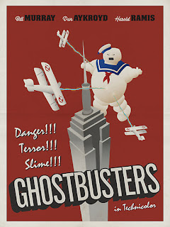 Ghostbusters 80s Film Poster
