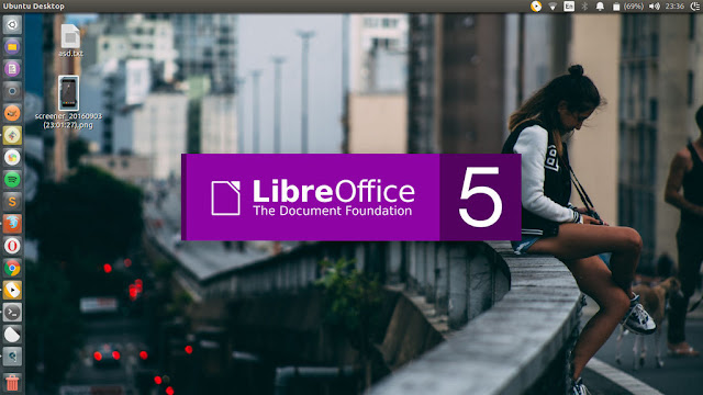 LibreOffice Splash Screen Purple Based Color