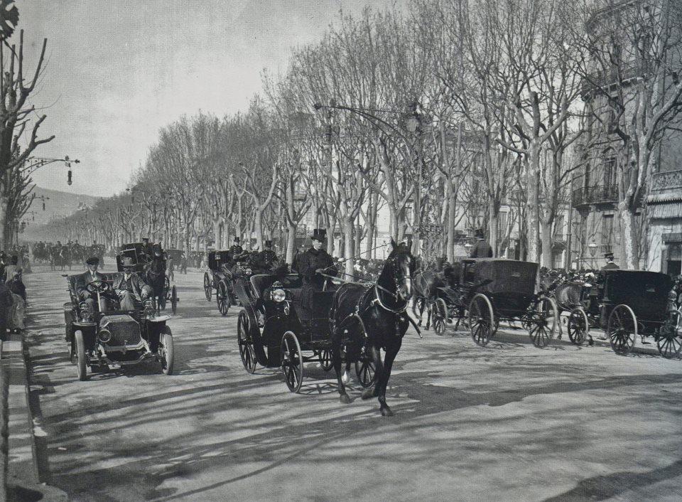 El paseo de Gracia a principios del siglo XX