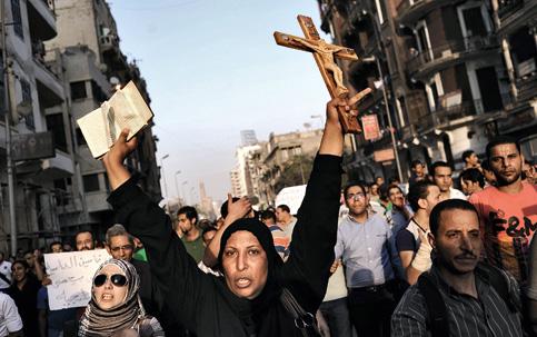 cristãos perseguidos protestam
