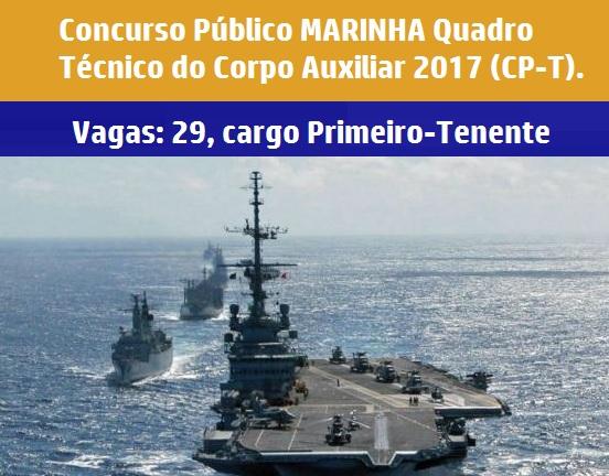 Marinha abre inscrições para 29 vagas de nível superior