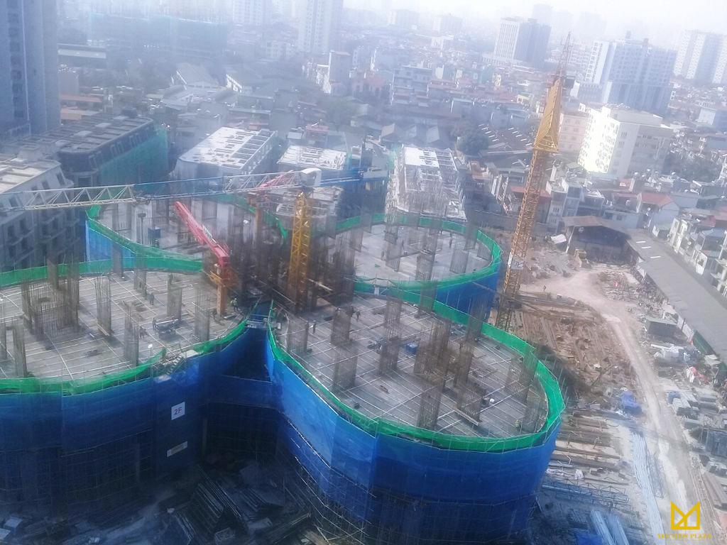 Tiến độ xây dựng của dự án Sky View Plaza Giải Phóng