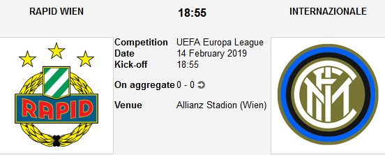 rapid wien vs inter milan live