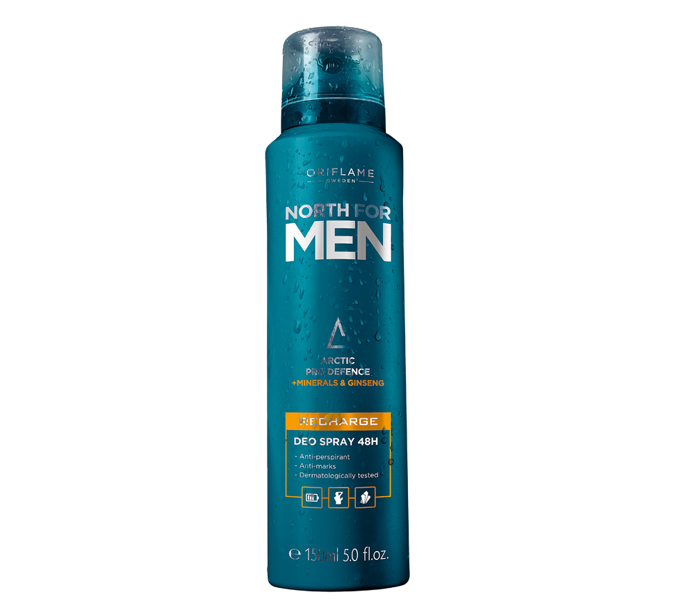 Spray Desodorizante 48H Revigorante North For Men da Oriflame