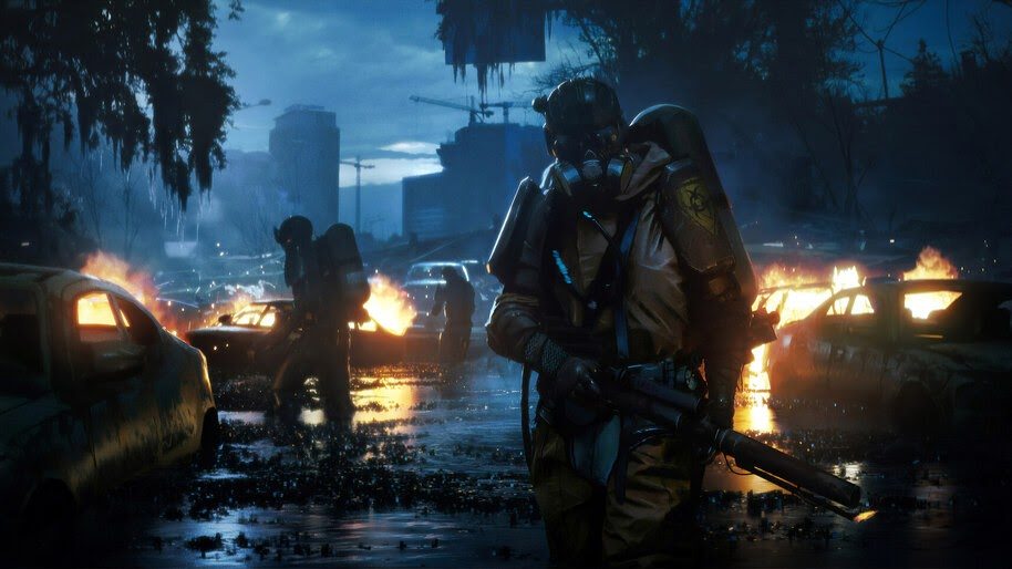 Post-Apocalyptic, Gas Mask, Flamethrower, 4K, #4.945