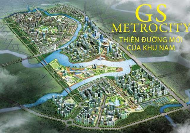 Phối cảnh tổng thể khu đô thị dự án GS Metrocity Nhà Bè.