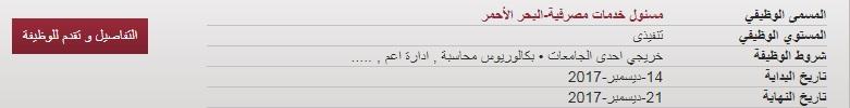 وظائف بنك مصر في محافظة البحر الاحمر