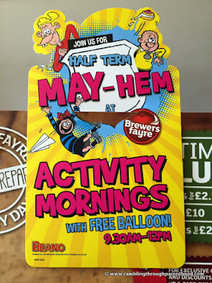 Half term May-Hem at Brewers Fayre