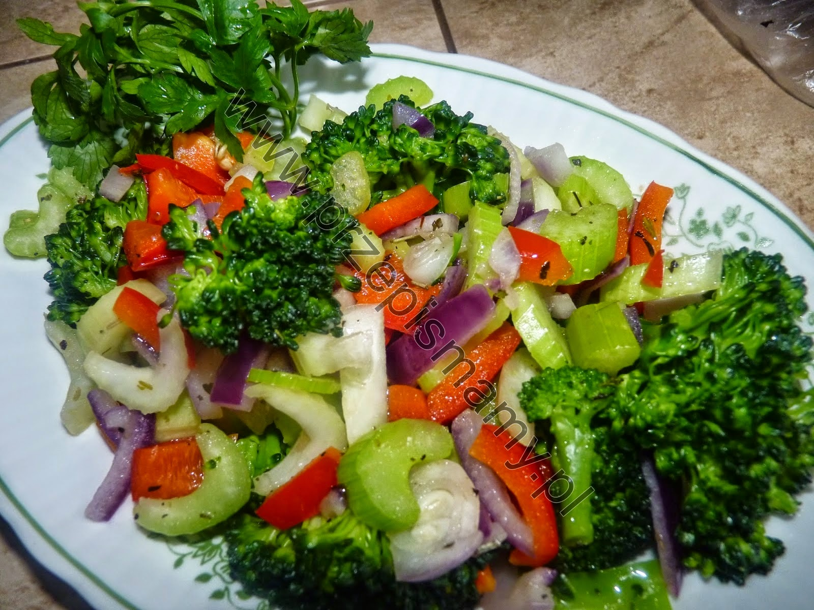 Warzywa z ziołami