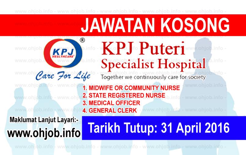 Jawatan Kerja Kosong KPJ Puteri Specialist Hospital logo www.ohjob.info april 2016