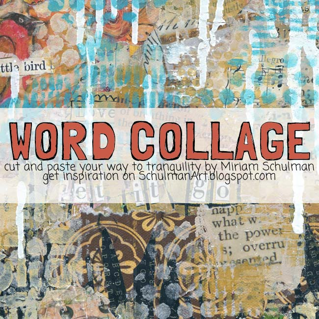 Art Journal Prompt Word Collage Schulman Art