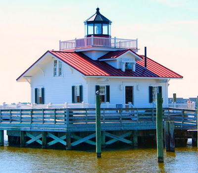 Roanoke Marshes Replica Lighthouse in North Carolina