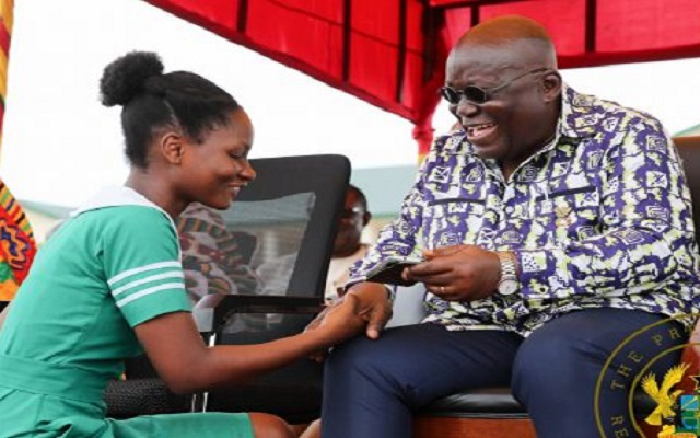 Ghana Trainee Nurses paraded to thank Nana Addo for restored allowance