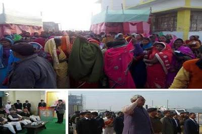 नीतीश कुमार की सभा में लोगों के उतरवाए गए काले कपड़े, ठंड में ठिठुरते रहे लोग
