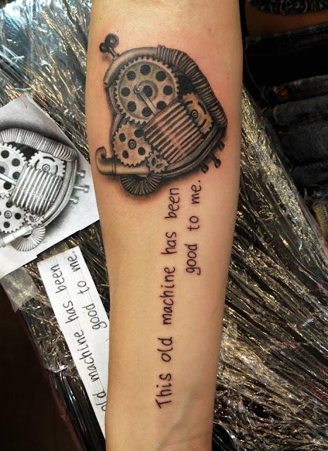 amazing arm steampunk tattoos