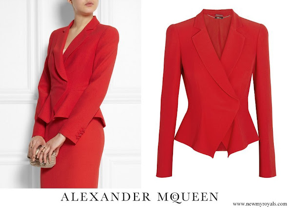 Princess Marie wore Alexander McQueen Flared Crepe Jacket