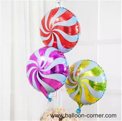 Balon Foil Permen Lolipop