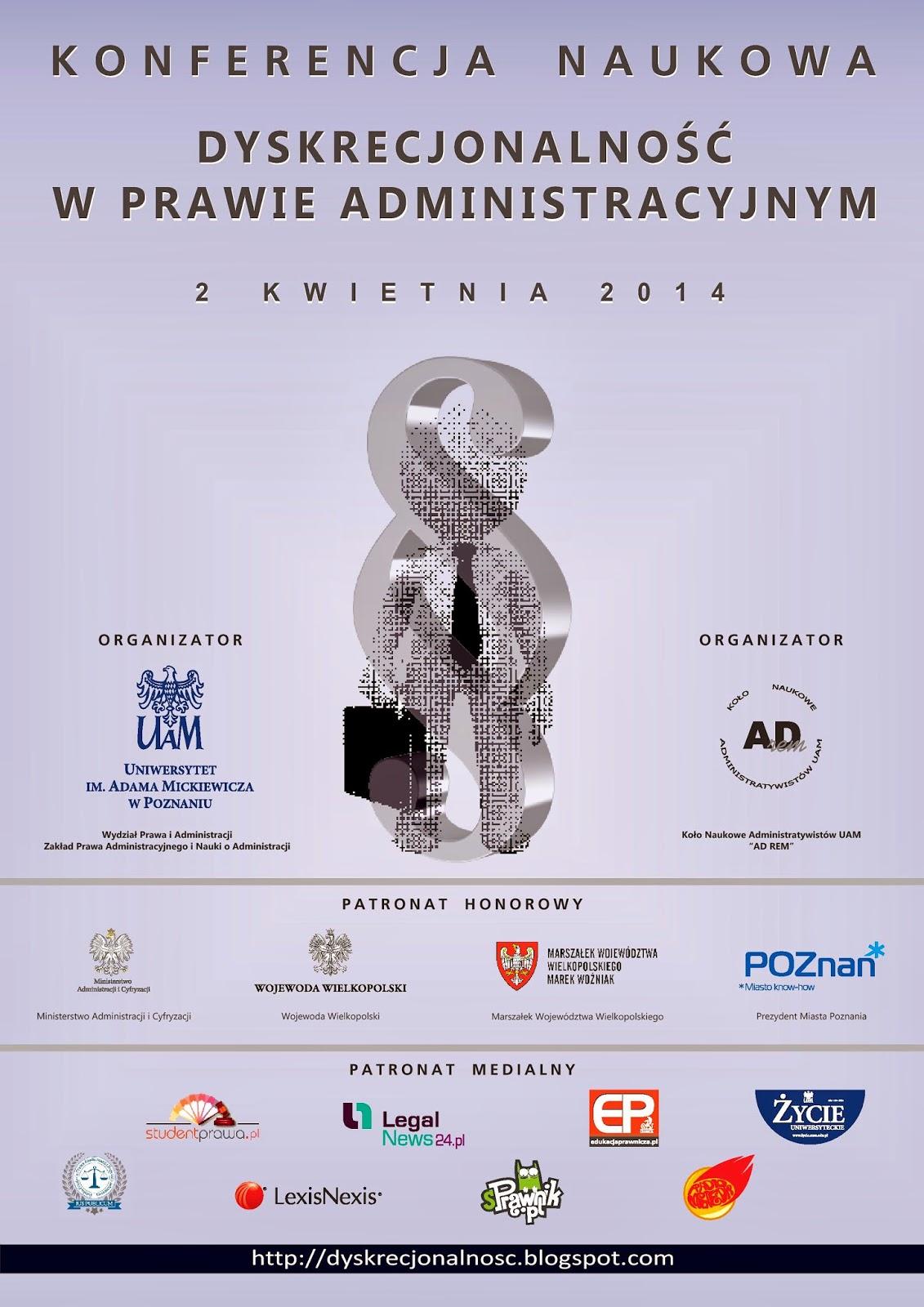 Konferencja Naukowa Dyskrecjonalność W Prawie