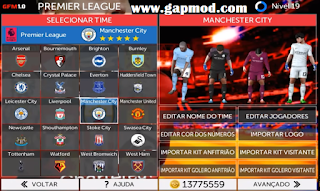 Download FTS 19 Full HD 2018/19 Mod GFM v1.0 by EQUIPE GFM Apk Data Obb Android